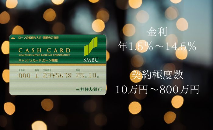 三井住友銀行カードローンの審査時間は?金利や申込・返済方法も紹介